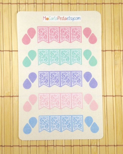 Pastel Page Flag planner stickers by MioCartaPesta