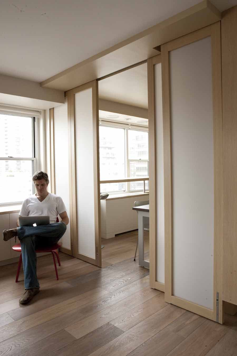 Sliding And Stacking Doors Give New Flexibility To The Home Office