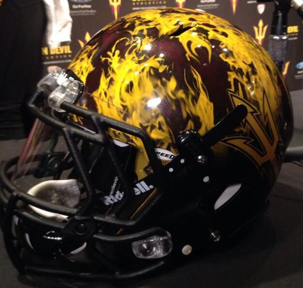 New Arizona State Helmets Are On Fire