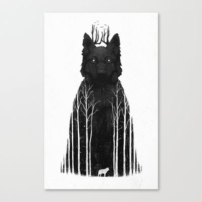Buy The Wolf King by DB Art as a high quality Canvas Print. Worldwide shipping available at Society6.com. Just one of millions of products available.