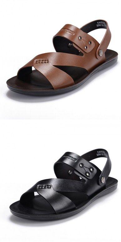 28a2e39929690a Tremendous Depth Ladies Sandals Resorts In Jamaica Men s Genuine Leather  Summer Fashion Flip Flop