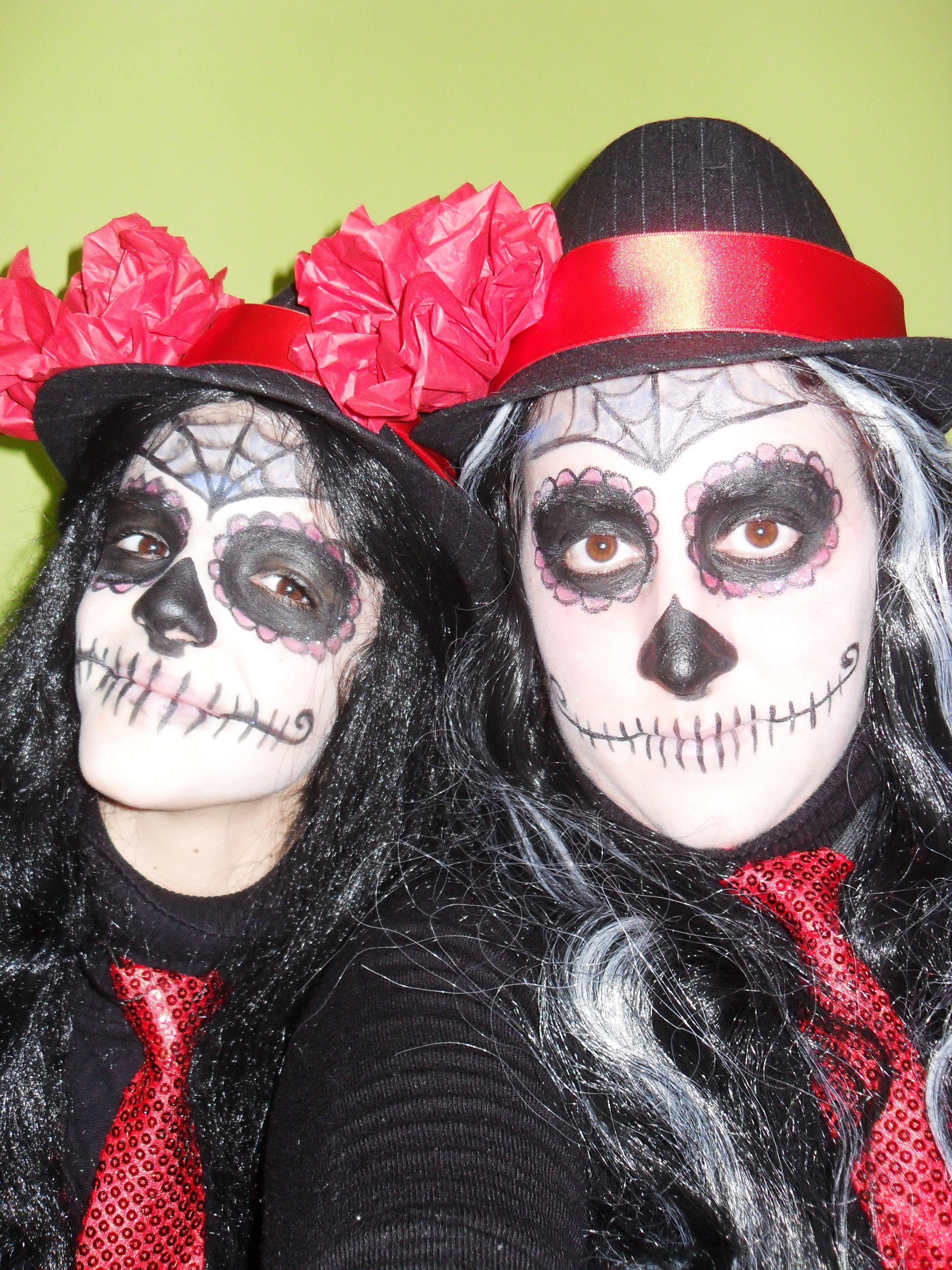 maquillaje hallowen muerte mexicana