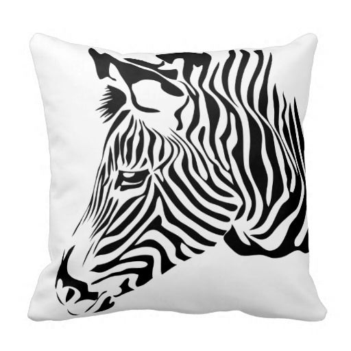 Black white zebra animal print