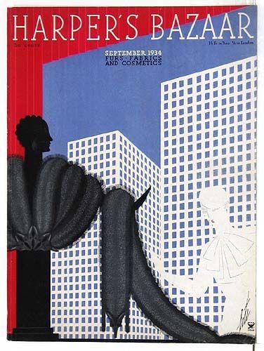 September 1934 Erte Harpers Bazaar Cover