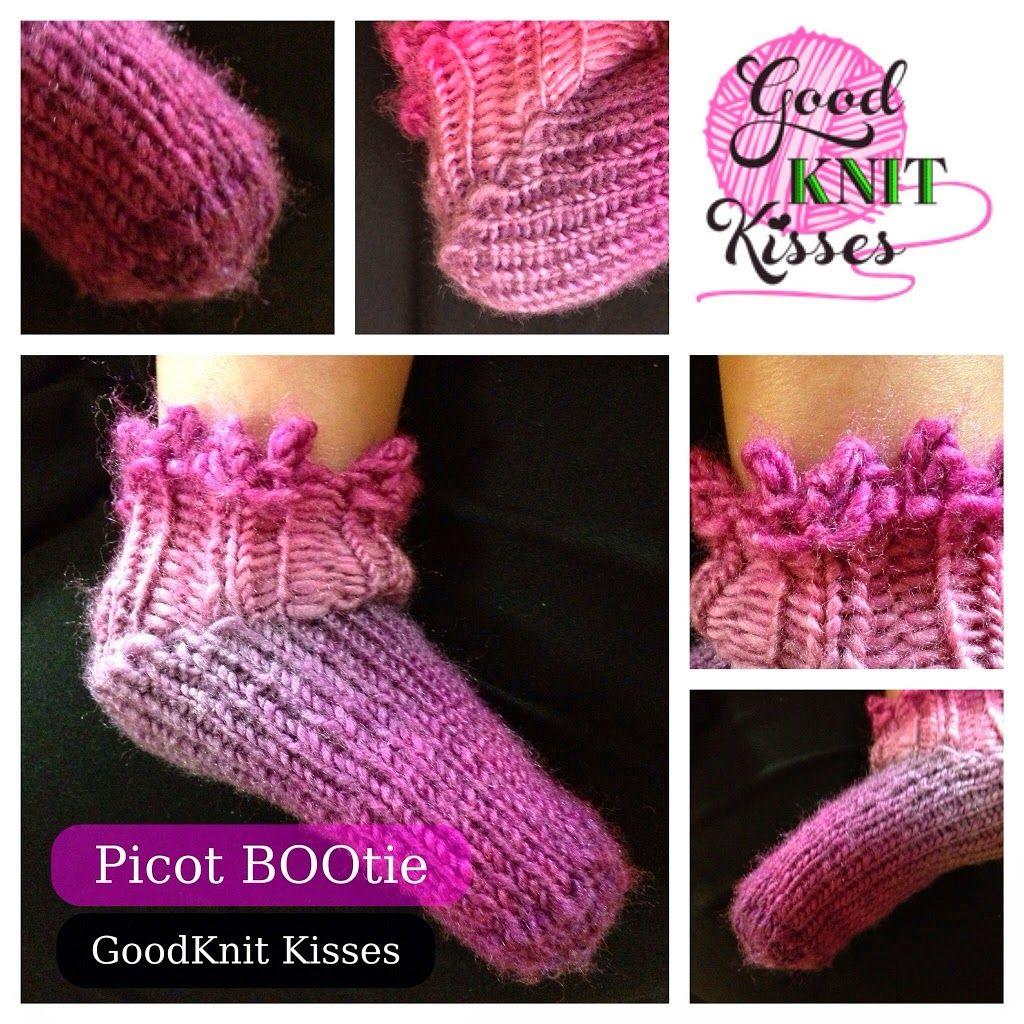 Picot Booties Crafting Loom Knitting Pinterest Loom Knitting