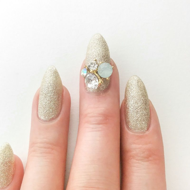 Opal Crystal Cluster Opal crystal, Glue on nails, Nail