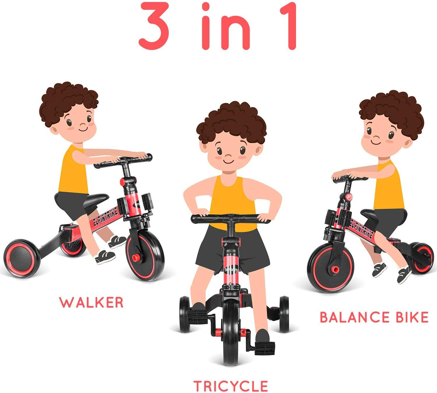 Besrey 3 In 1 Kids Trike For 1 5 5 Years Old And Up Boys Girls 3