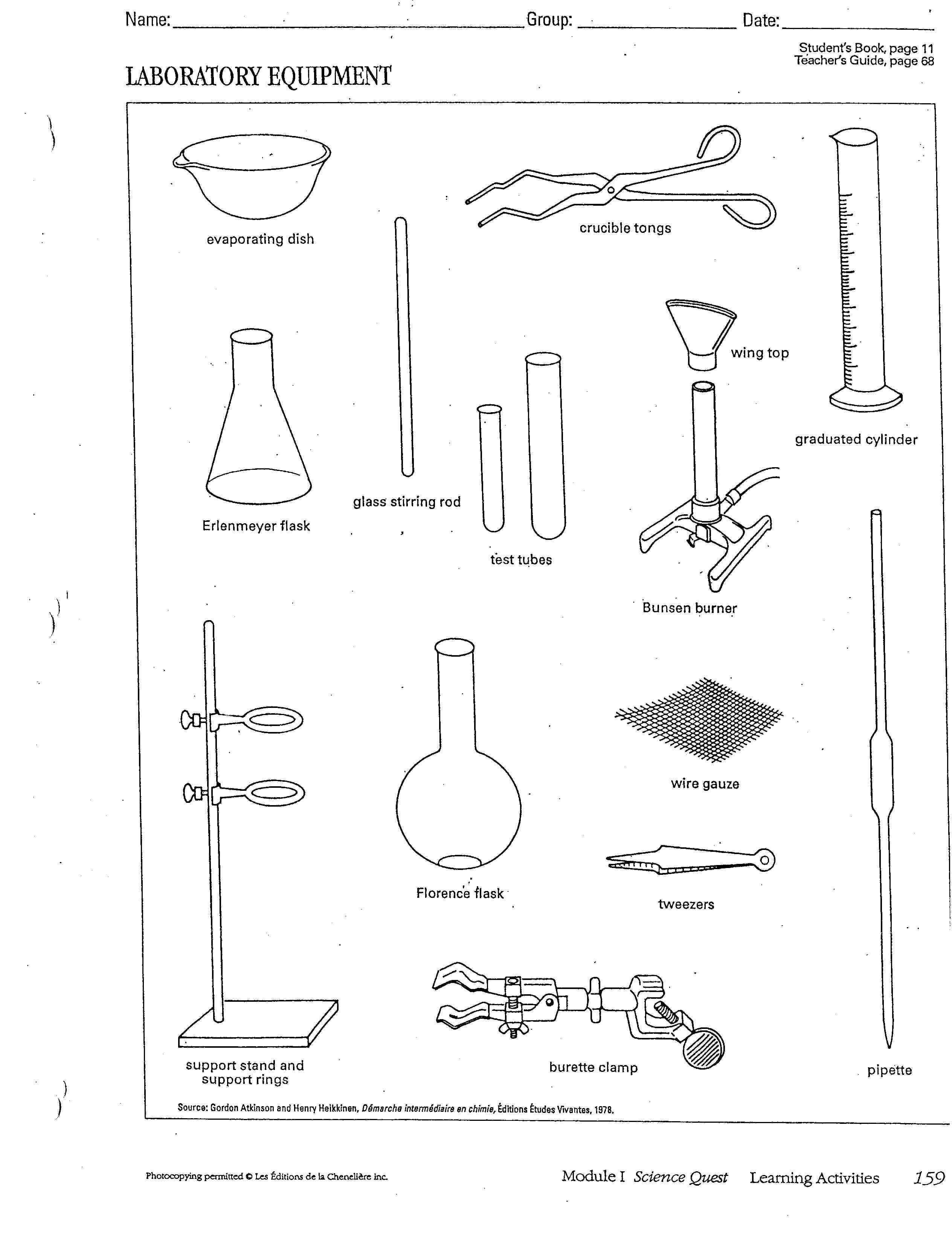 Worksheets Lab Equipment Worksheet chemistry lab equipment bing images pinterest images