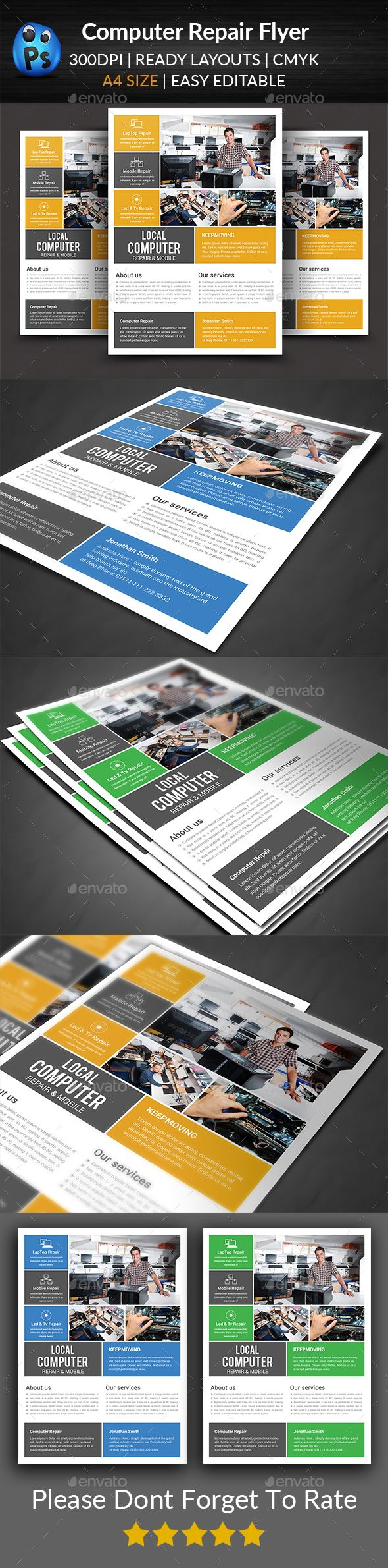 Computer Mobile Repair Flyer Template Psd Flyer Templates