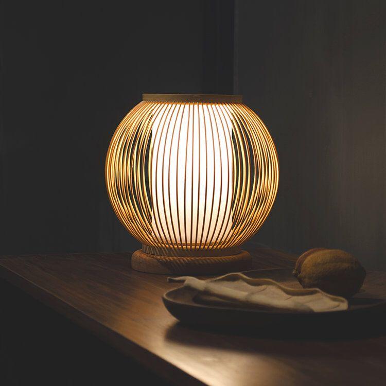 Arturest Wabi Sabi Bamboo Desk Lamp Handmade Craft Table Etsy Lamp Handmade Lamps Desk Lamp