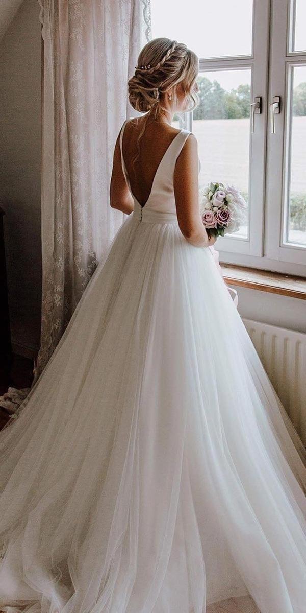 Photo of 30 Simple Wedding Dresses For Elegant Brides   Wedding Forward