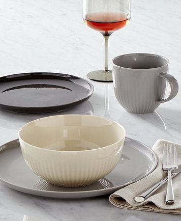 Geschirr Set Modern hotel collection modern dinnerware, only at macy's | macys