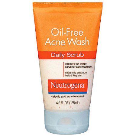Neutrogena Oil Free Acne Face Wash Daily Face Scrub 4 2 Fl Oz