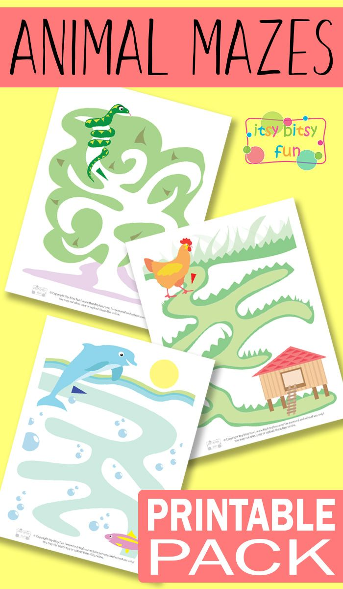Printable Animal Mazes for Kids   Mazes for kids, Adorable animals ...