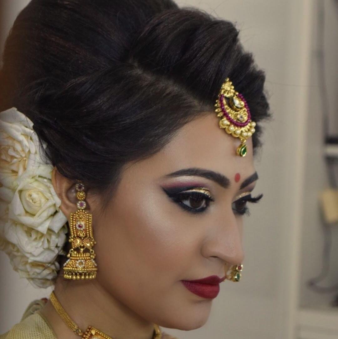 51 Romantic Wedding Hairstyles: Richa Dave (@jasmine_beauty_care