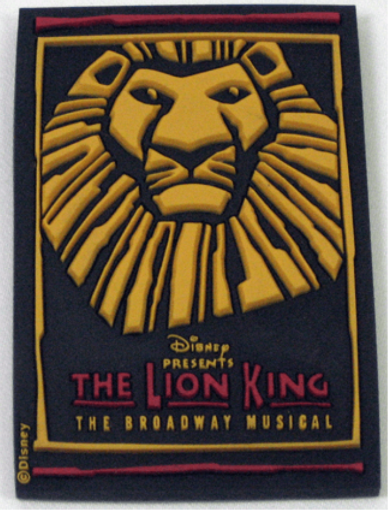 The Lion King The Broadway Musical Simba Logo Rubber Magnet The