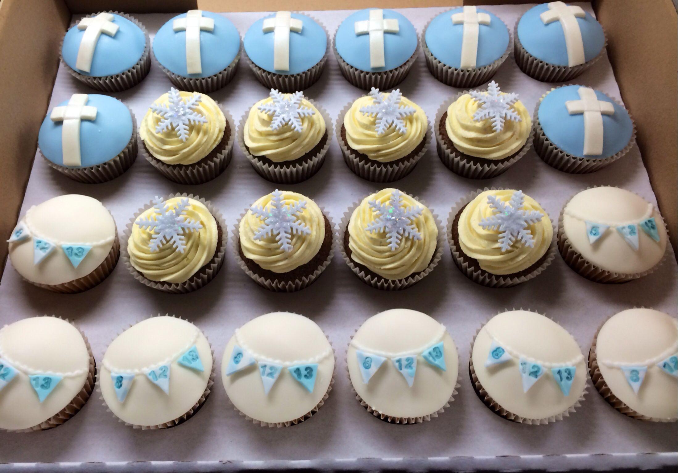 Boy S Christening Cupcakes