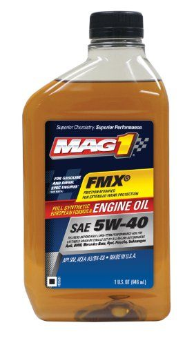 MAG1 62836-6PK FMX SAE 5W-40 Full Synthetic European Formula Engine Oil - 32 oz., (Pack of 6)