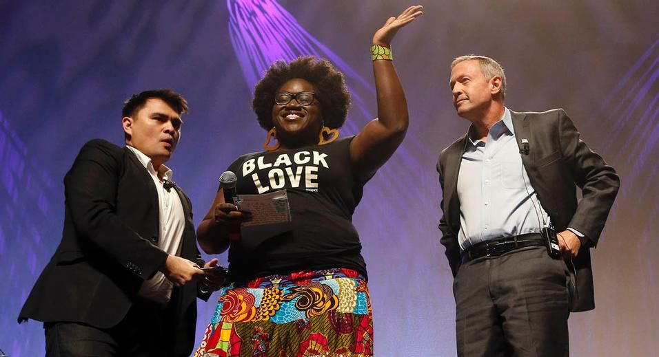 "Activists Proclaim ""Black Lives Matter"" at Netroots Nation Presidential Forum"