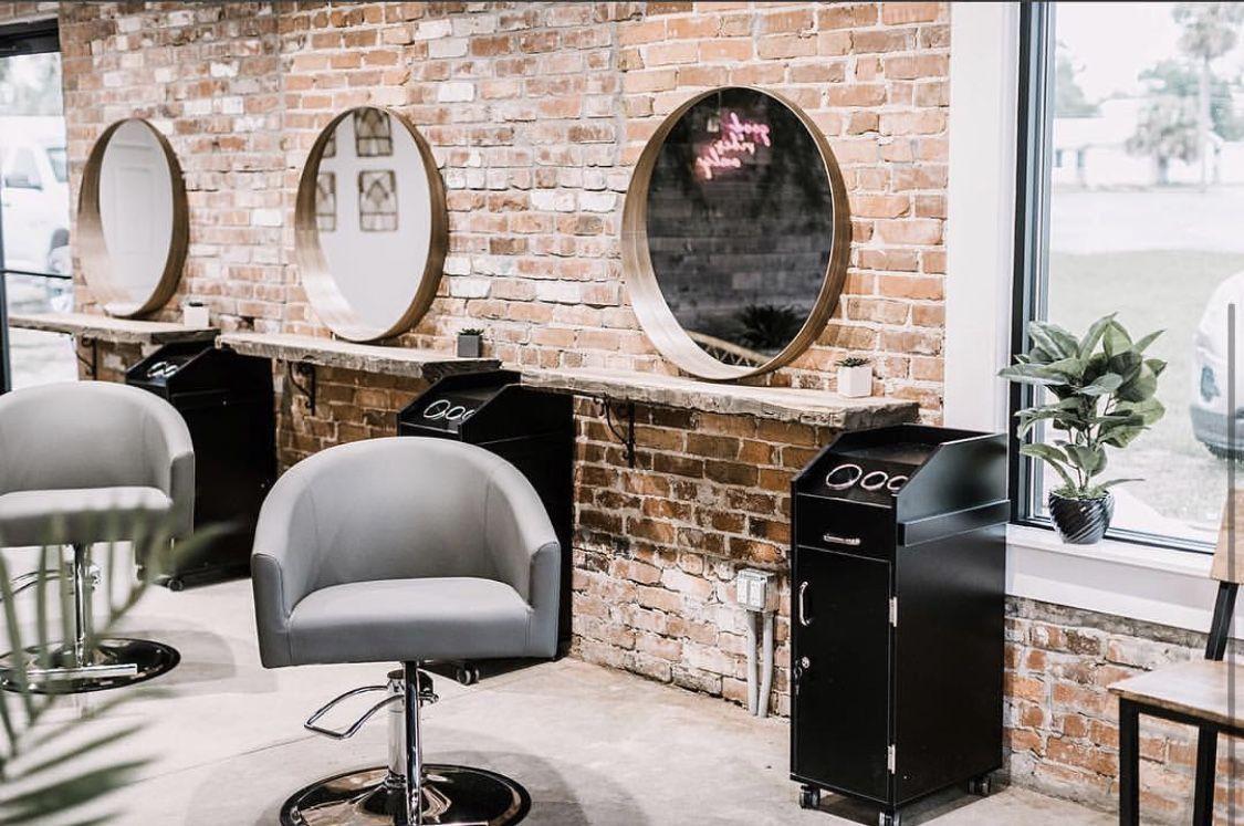 Spa Salon Interior Design Gallery Salon Interior Design Book 2017 Pdf Nail Salon Interior Design Ideas Pict In 2020 Salon Stations Salon Interior Design Salon Decor
