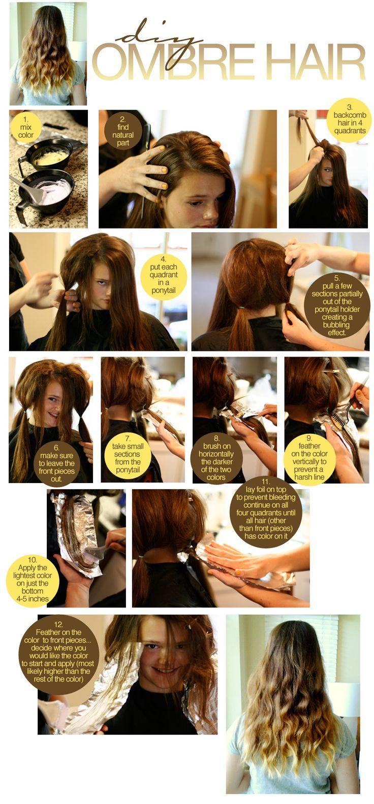diy- ombre- dye hair- at home   Αγαπημένα χτενίσματα και ομορφιά ...