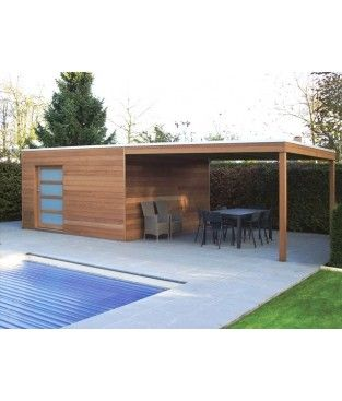 box iroko avec auvent cabanes. Black Bedroom Furniture Sets. Home Design Ideas