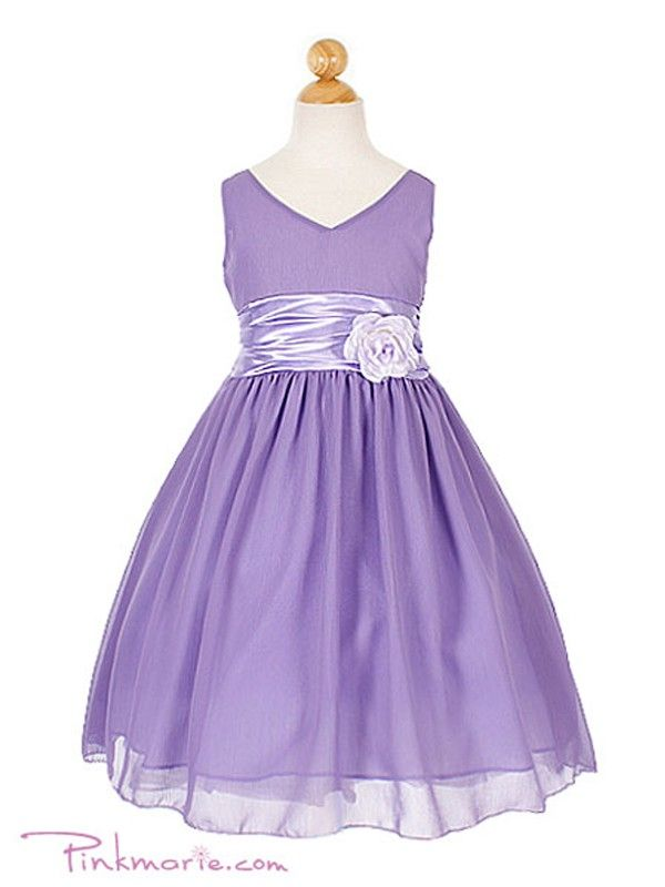 Lilac Yoru Chiffon Flower Girl Dress @Sara Mcclung   Plans for the ...