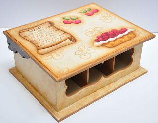 Eliane Artesanato: caixa de chá de cerejas