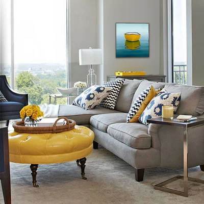 Giclee Editions In 2021 Blue Grey Living Room Grey And Yellow Living Room Yellow Living Room