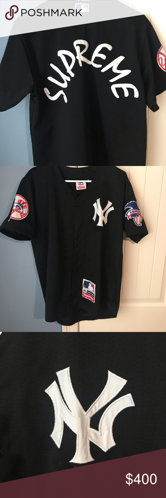 reputable site d5d3f 5a38c Supreme Yankees Jersey Large Awesome jersey. Little to no ...