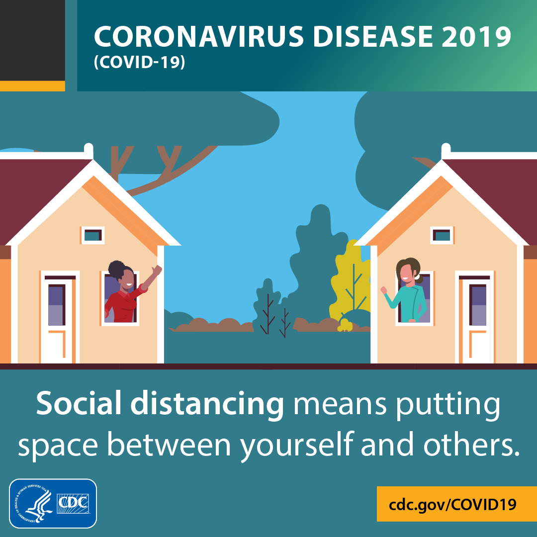 Social distancing can help slow the spread of COVID19 in