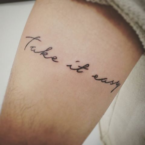 Image Result For Take It Easy Tattoo Simple Tattoo Fonts