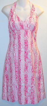 Lilly Pulitzer Pink Halter Cotton Dress. You'll look pretty in the Lilly Pulitzer Pink Halter Cotton dress! Get it for less at Tradesy.com now