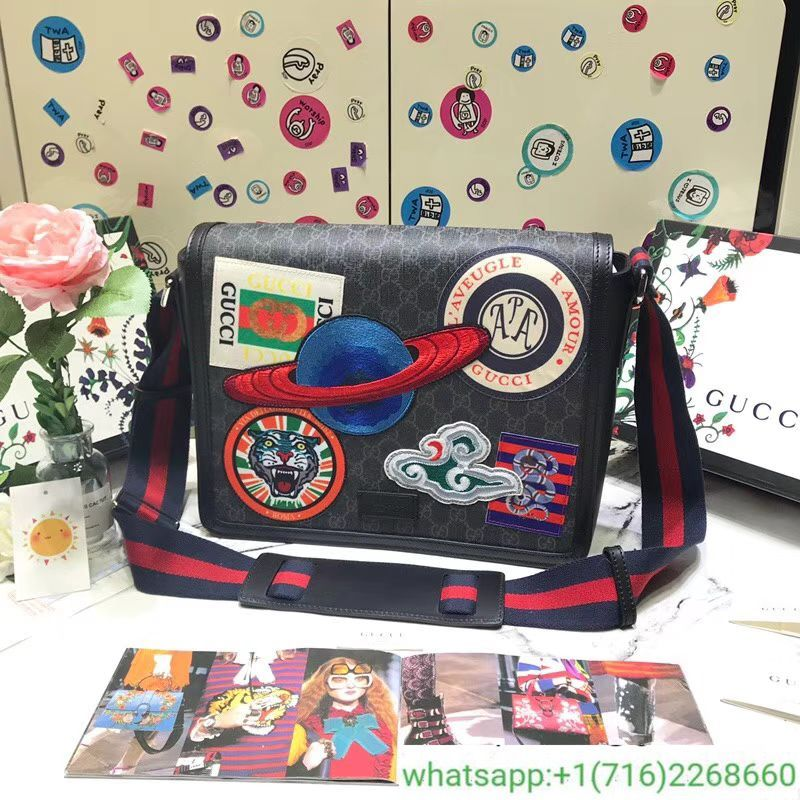 4b0a7843aaa5a3 Gucci Night Courrier GG Supreme flap messenger 474138 | gucci in ...
