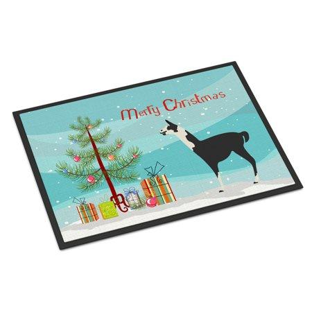 Toland Home Garden Christmas Moose 18 x 30 Inch Decorative Animal Floor Mat Holiday Doormat