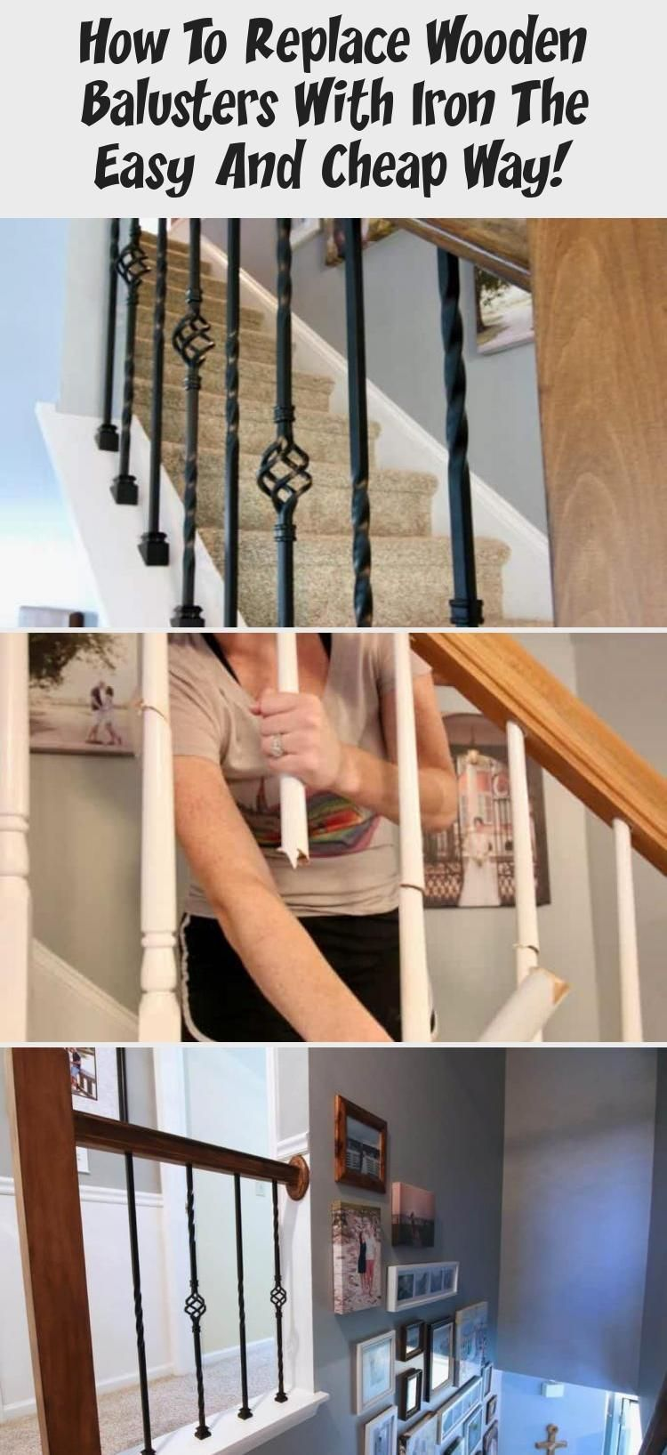 Best How To Replace Wooden Balusters With Iron The Easy And Cheap Way Pinokyo In 2020 Diy Home 400 x 300