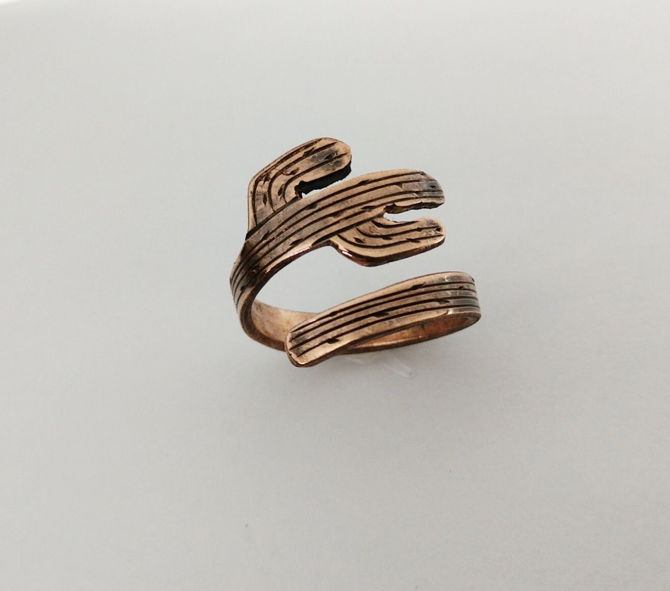 e623fa3f0 Www.dossiecribbs.com Adjustable Copper Cactus Wrap. #cactus #copper  #copperjewelry #nfrfashion #nfr #western #westernfashion #ring #westernart