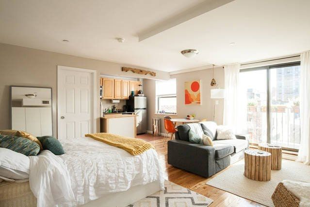 Kay S 400 Square Foot Diy Studio Apartment Interior