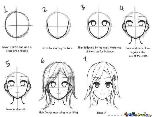 Meme Center Largest Creative Humor Community Anime Drawings Anime Drawings Tutorials Anime Head