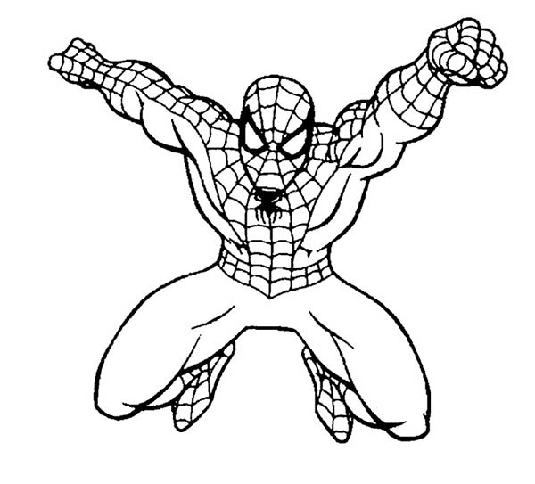 Spiderman Punching Coloring Page Coloring Sun Spiderman Coloring Coloring Pages Cartoon Coloring Pages