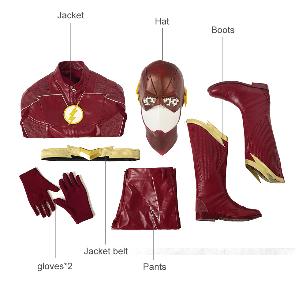 The Flash Season 4 Barry Allen Cosplay Costume Flash