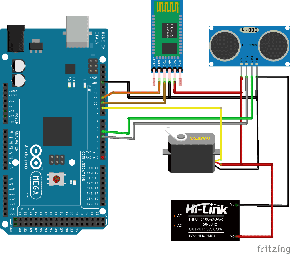 hight resolution of arduino radar system using processing android app and ultrasonic sensor