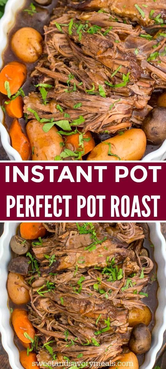 Photo of Best Ever Instant Pot Pot Roast [Video] – Sweet and Savory Meals