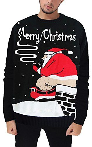938d33532 Santa Pooping Down The Chimney Ugly Christmas Sweater by Arvihill ...