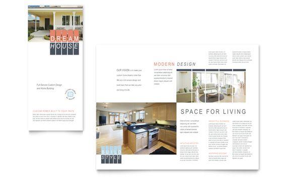 Custom Home Building Tri Fold Brochure Design | kkkk | Pinterest