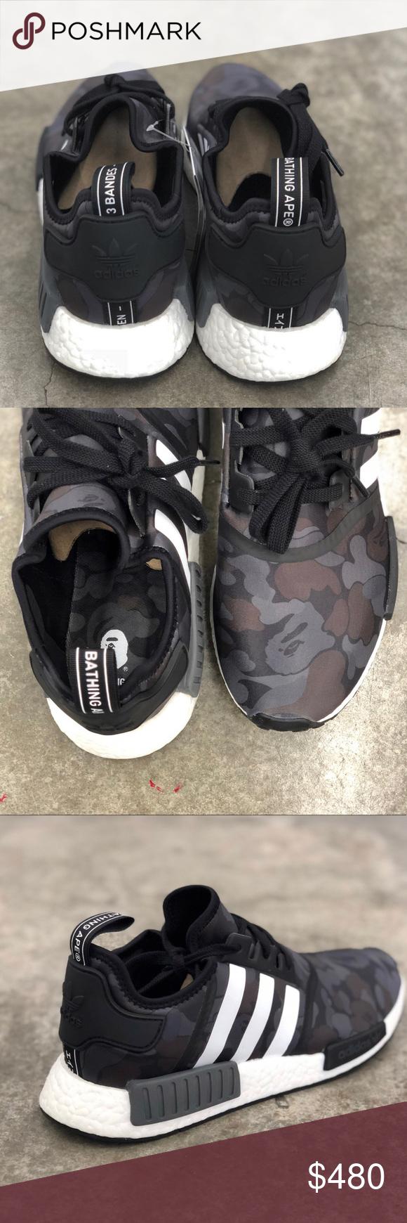 a71a2a80 Adidas NMD R1 Bape Black Camo Dead Stock Brand New No Trades adidas Shoes  Athletic Shoes