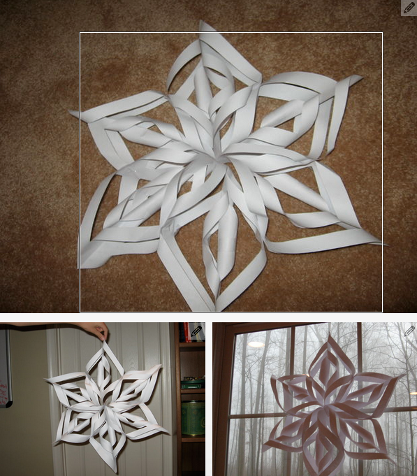 Six Pointed 3d Snowflake Tutorial Totally Love It Diy