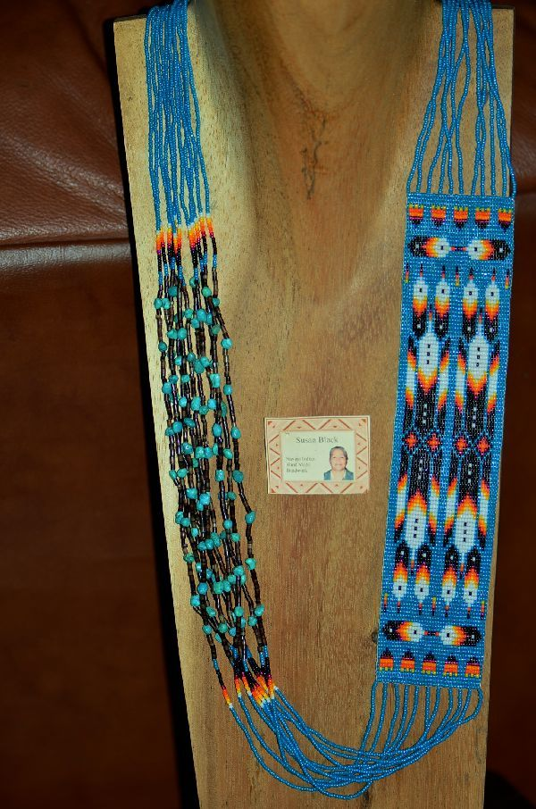 Navajo Multi Colored 10 Strand Seed Bead Pen Shell And