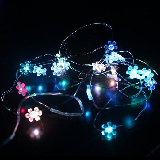 - DFL 20 sunflower LED string wire lights work with 3xAA