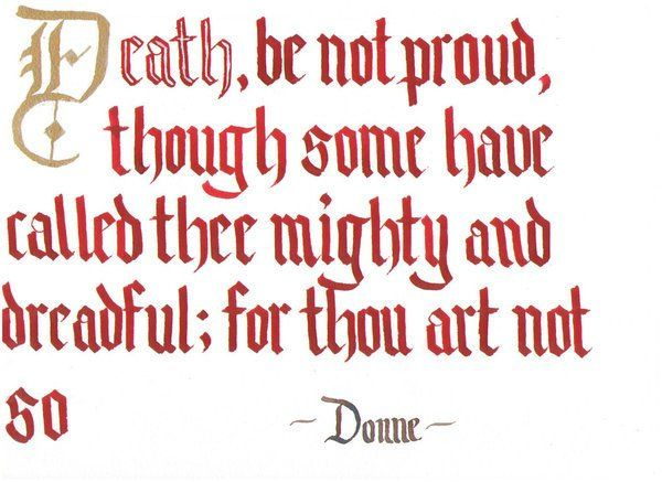 john donne the meter of death be not proud english literature death be not proud